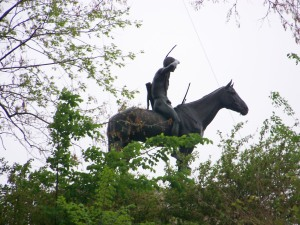 Indian on Horse Statue