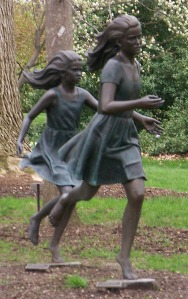 Running Girls Statues