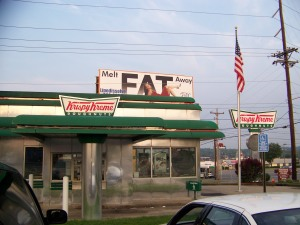 Krispy Kreme Fat Sign