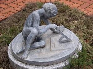 Studious Boy Statue